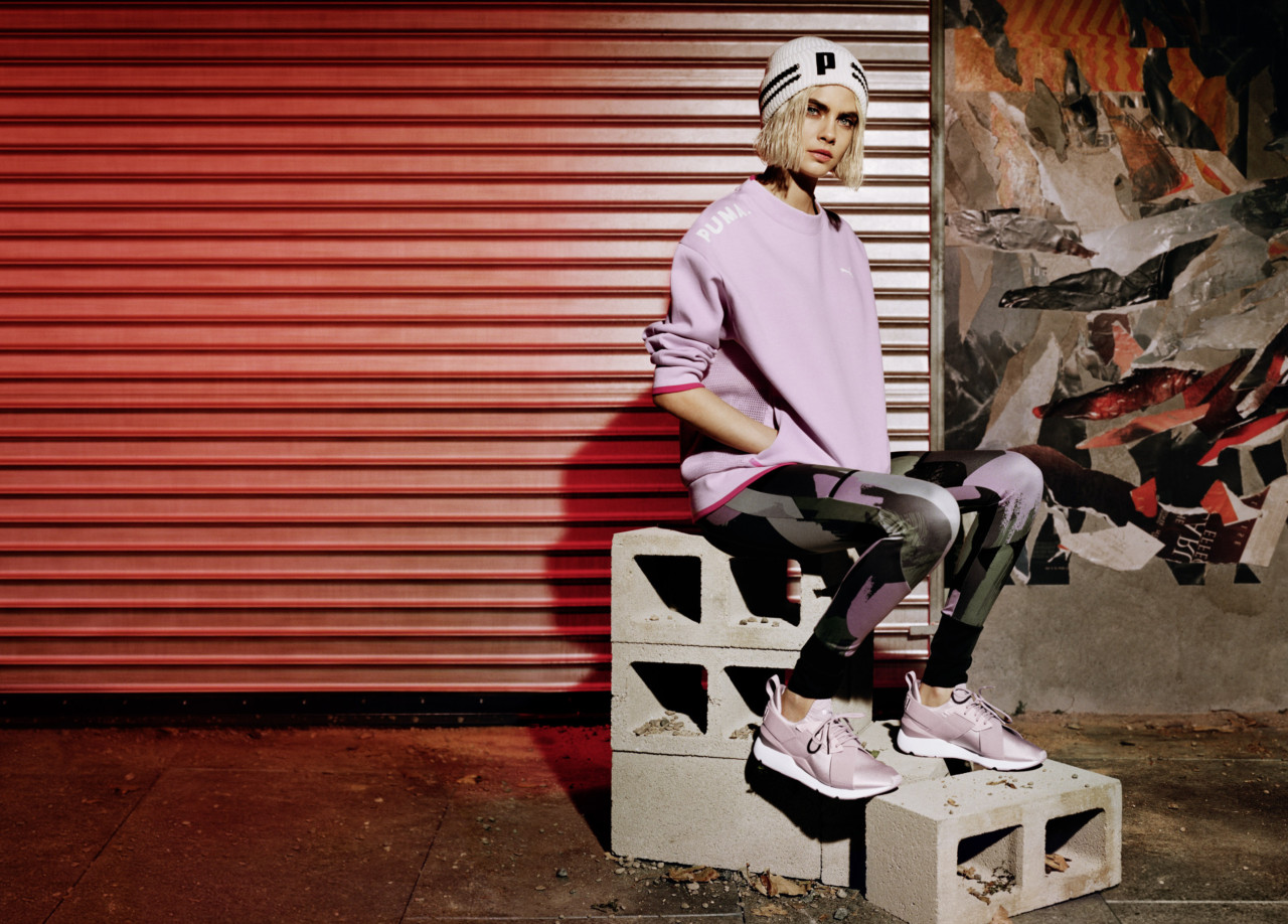 Cara Delevingne en mode streetwear pour Puma Bold Magazine