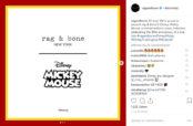 Rag & Bone célèbre les 90 ans de Mickey Mouse avec une capsule unisexe